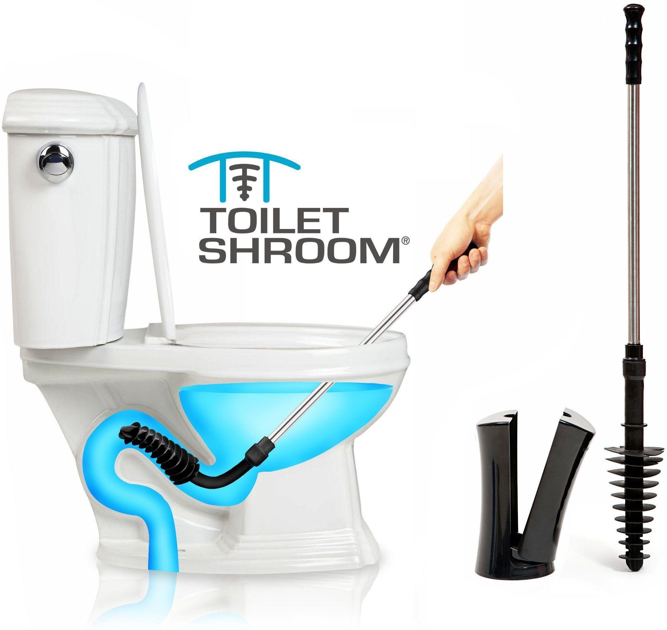 Toiletshroom Black Toilet Plunger That Unclogs Toilets In Seconds Drain Cleaner Plunger Black Toilet