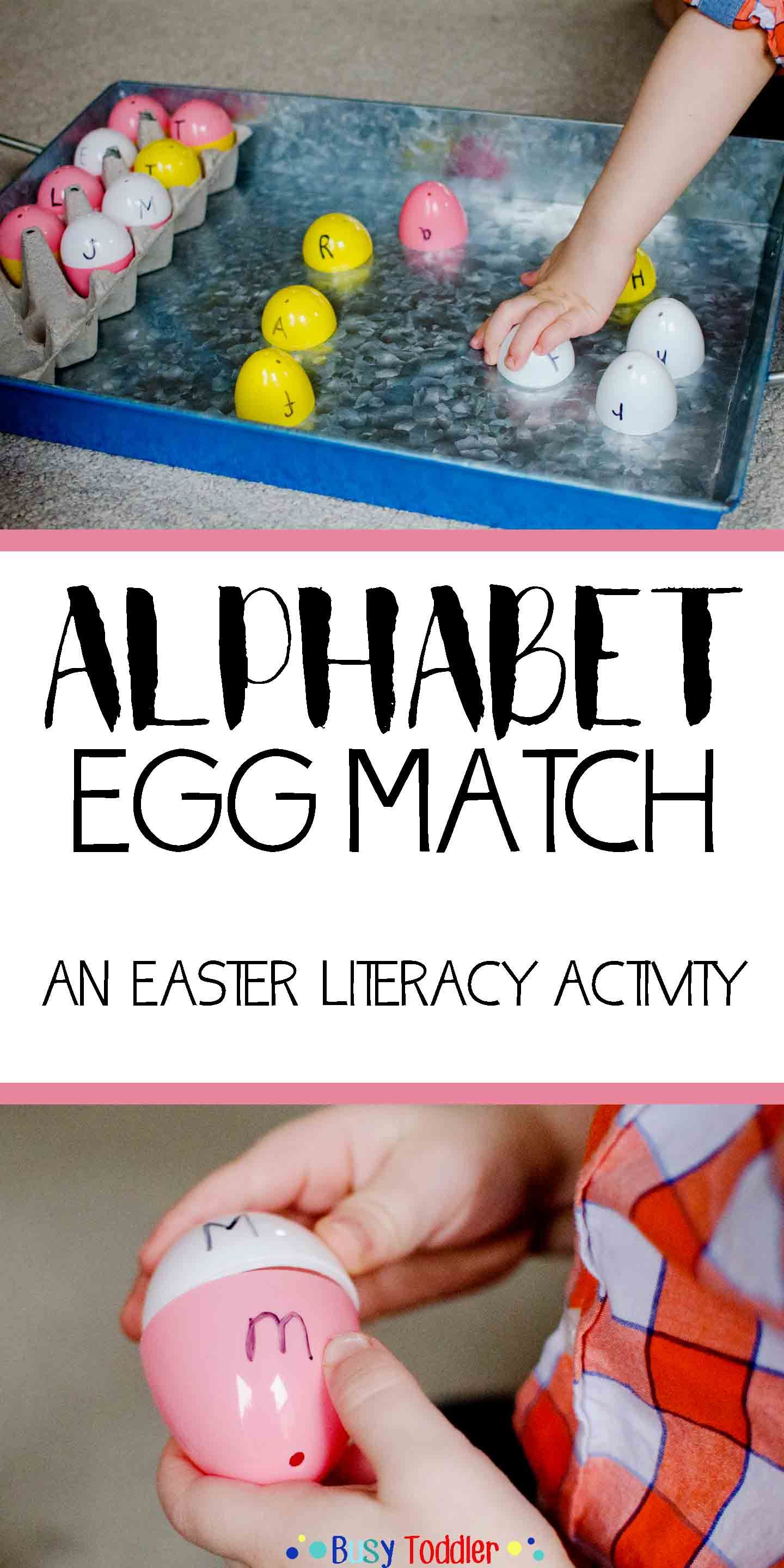 ABC Easter Egg Match | || BUSY TODDLER || | Literacy ...