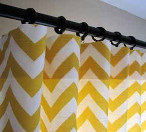Yellow Chevron Curtains.