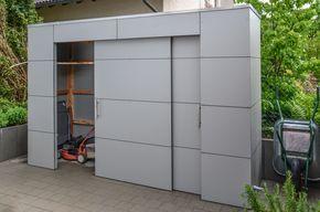 Gartenhaus gartenschrank in pforzheim by design garten wetterfeste fassade niemals for Grillschrank selber bauen