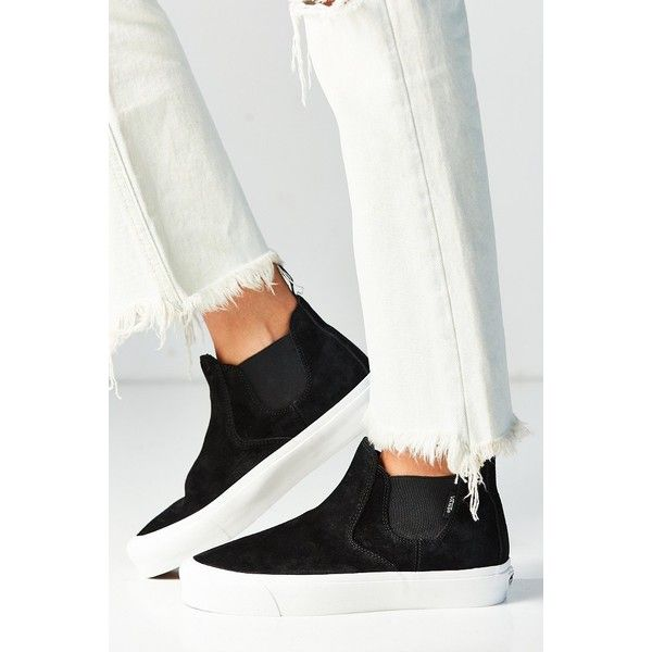 Vans Scotchgard Slip-On Mid DX Sneaker ($70) ❤ liked on Polyvore featuring shoes, sneakers, slip on sneakers, slip-on shoes, grip shoes, slip on trainers and kohl shoes