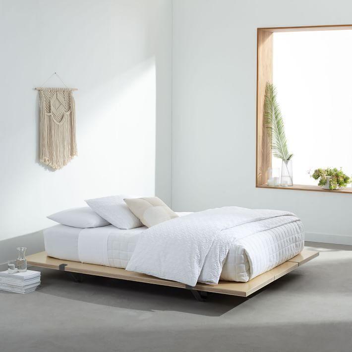 The Floyd Platform Bed Natural Birch In 2020 Platform Bed Designs Affordable Furniture Bed Design