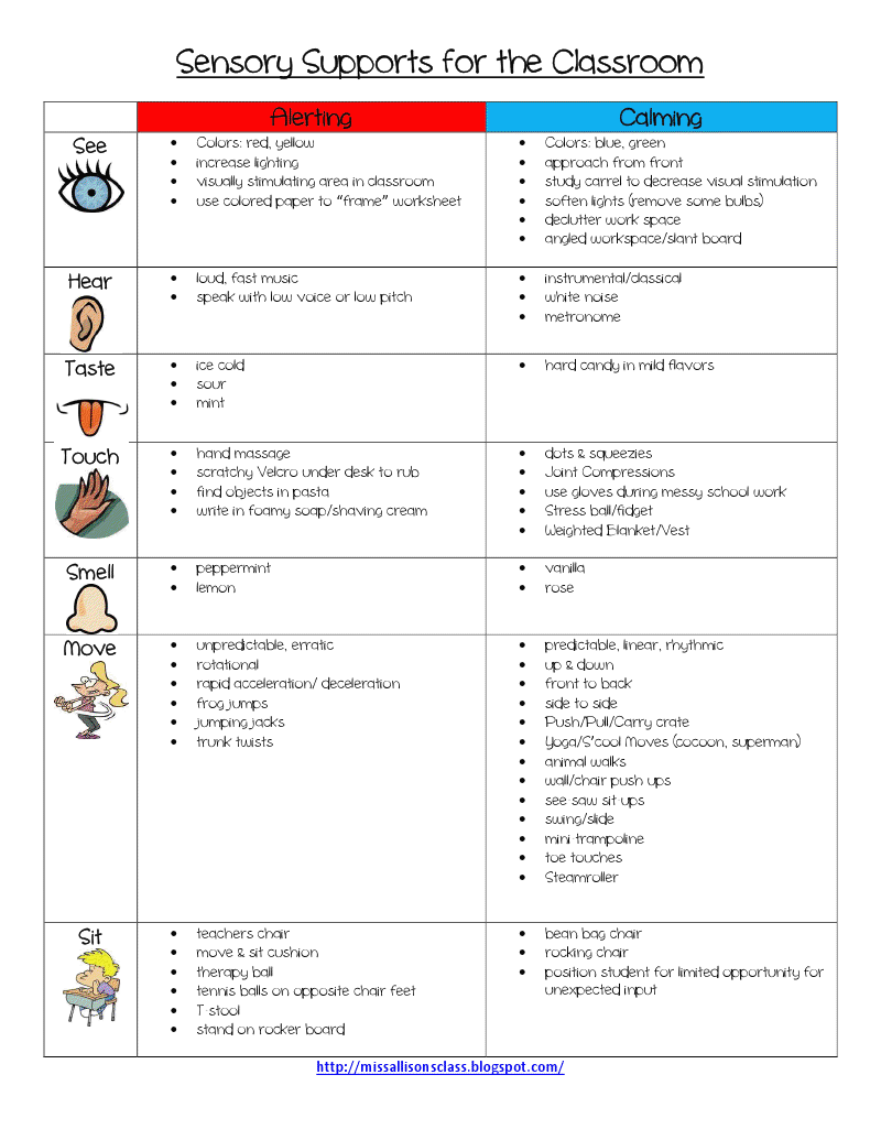 Sensory Supports for the Classroom.pdf - Google Drive | Bowie ...