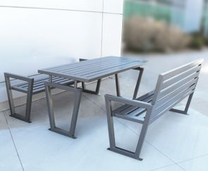 modern metal outdoor furniture photo. this is a whole line of products that could be coordinated together it too modern multiplicity table stuypark outdoor dining ideas pinterest metal furniture photo t
