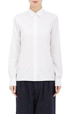 MAISON MARGIELA Double-Welt-Trimmed Poplin Blouse. #maisonmargiela #cloth #blouse