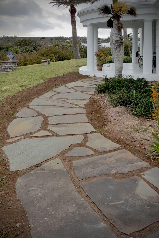 Bluestone Flagstone Stone Paver Pathway Patio Entry Natural Stone Pavers Flagstone Pathway Walkways Paths