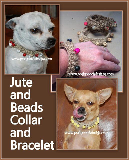 Hemp Beaded Dog Collar Crochet Pattern