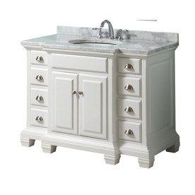 Shop Allen Roth Vanover White Undermount Single Sink Bathroom