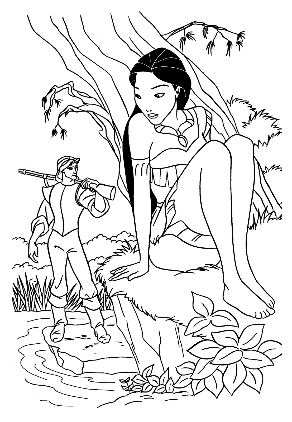 Princess coloring book pages free