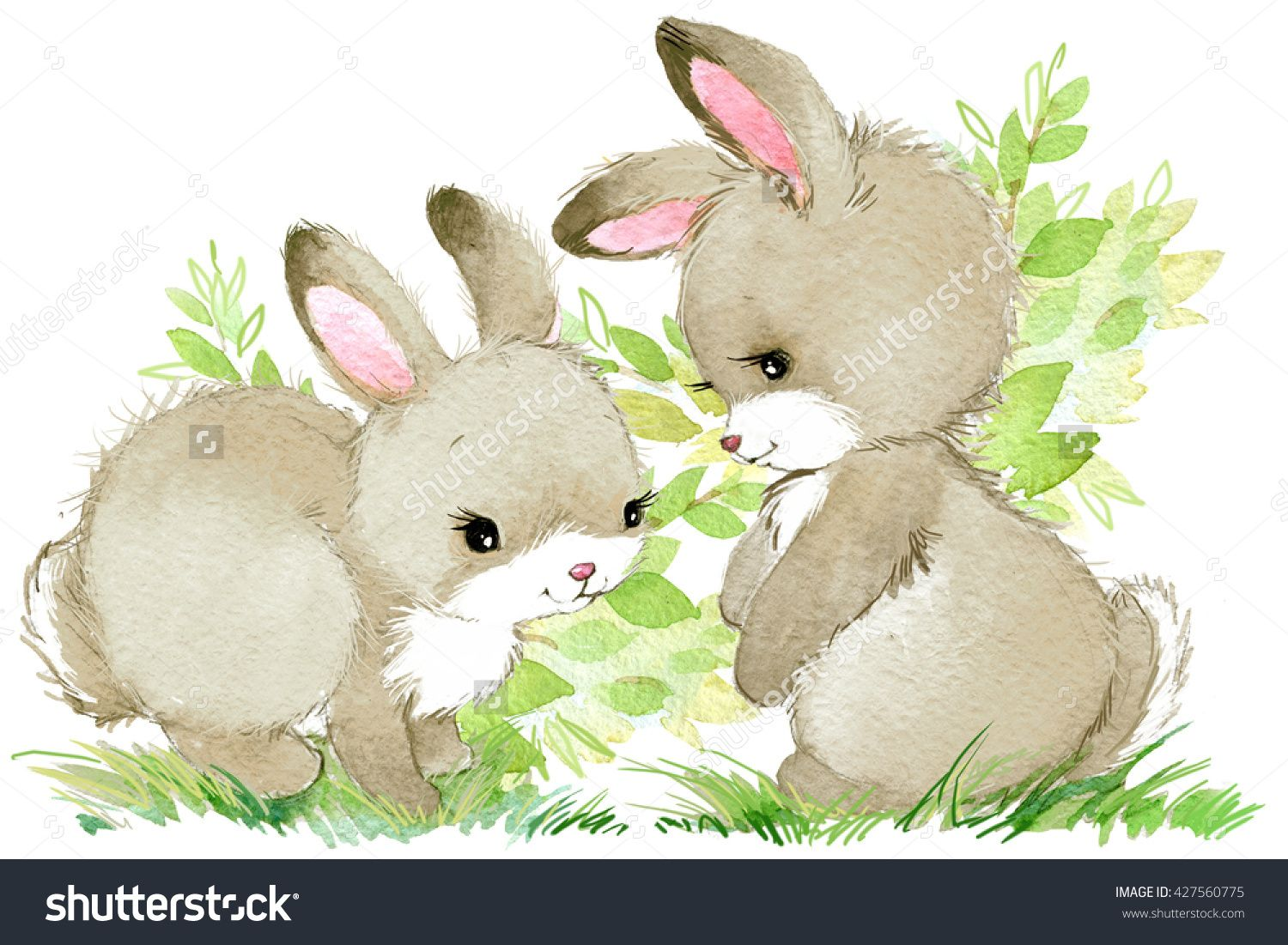Rabbit Cute Rabbit Cartoon Rabbit Watercolor Animal