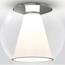 Photo of serien.lighting Draft Ceiling M ceiling lamp glass shade clear triac dimmable (for 3-core power cable