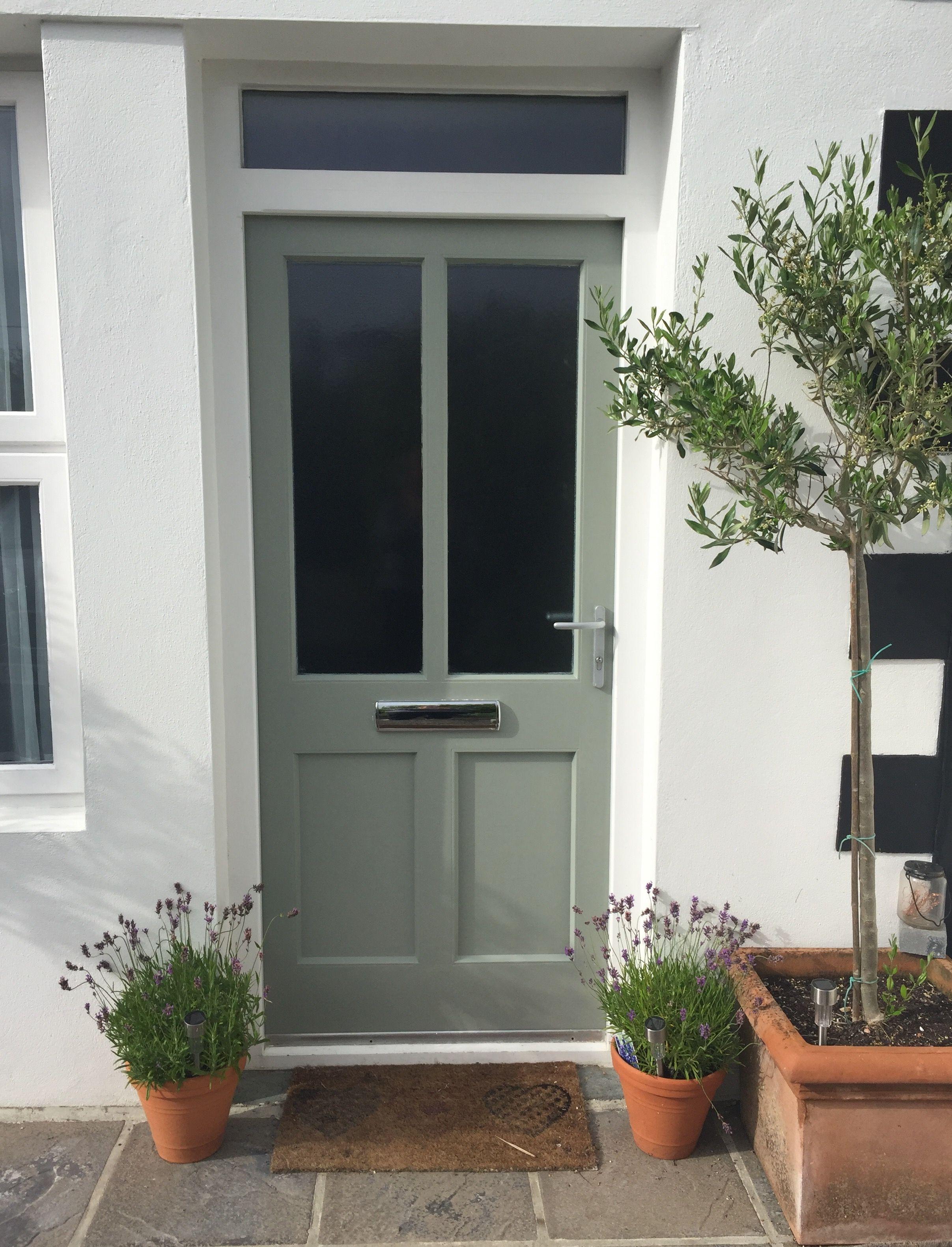 Windfang Haustür Farrow And Ball Pigeon Front Door Cornwall Cottage Windfang