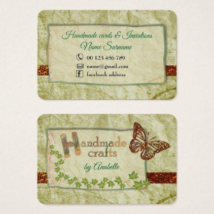 Handmade crafts business card colourmoves