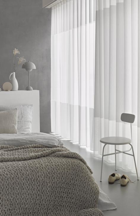 Mooi in de slaapkamer transparante gordijnen met een wave