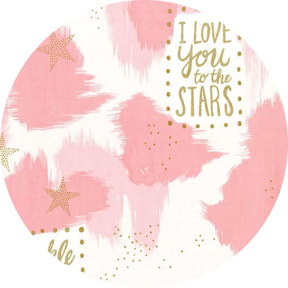 Sarah Jane For Michael Miller Magic You Are Magic Metallic Pink
