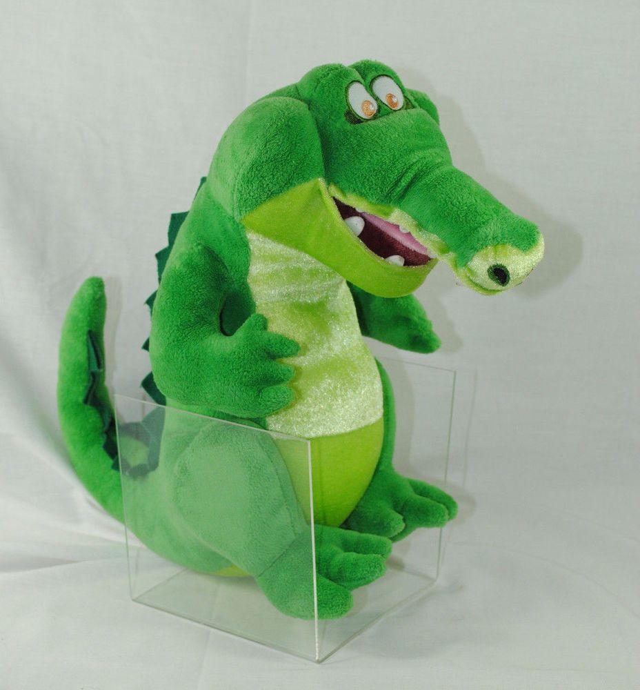 disney store exclusive tick tock crocodile  plush stuffed  - animal