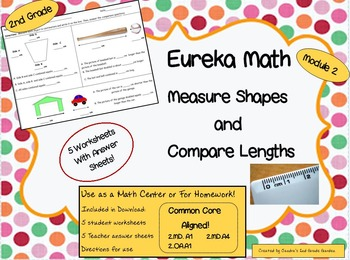 2nd grade eureka math module 2 shape measurement comparison students cannot live by measuring lines alone these 5 worksheets are adorned with cute objects eureka mathcommon fandeluxe Images