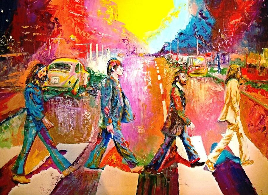 Beatles Abbey Road Painting by Leland Castro - Beatles Abbey Road ...