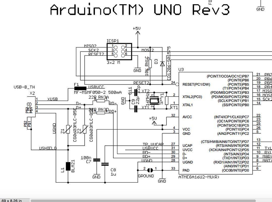 [Arduino Uno Rev3] Schematic #Arduino #schematic #