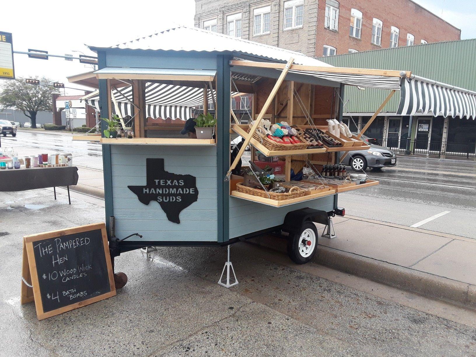 Texas Handmade Suds Vendor Trailer Trailer Diy Farm Stand Diy Vendors