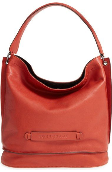 ed7318781a51 Longchamp  3D  Leather Hobo - Brick
