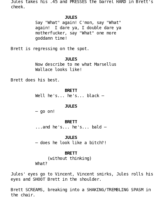 writing a script sample