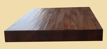 Best Mahogany Hand Scraped Butcher Block Style Stair Tread 640 x 480