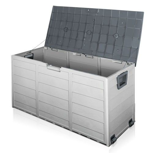 Awesome Weatherproof Plastic Outdoor Storage Box Container   Grey