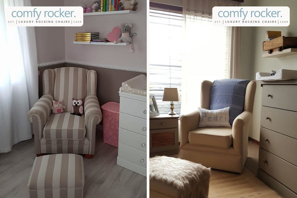 Comfy Rocker Luxury Nursery Rocking Chairs - Designed to promote correct posture when breast or bottle & Comfy Rocker Luxury Nursery Rocking Chairs - Designed to promote ...