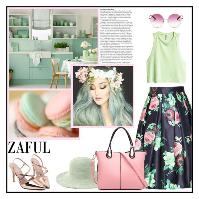 """""""Zaful 1/24"""" by pinki1994 ❤ liked on Polyvore featuring San Diego Hat Co., H&M, Matthew Williamson, ASOS and zaful"""