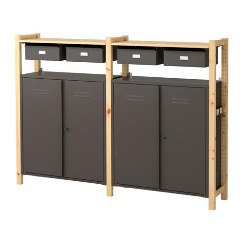 IVAR 2 secciones/baldas/armarios  - IKEA