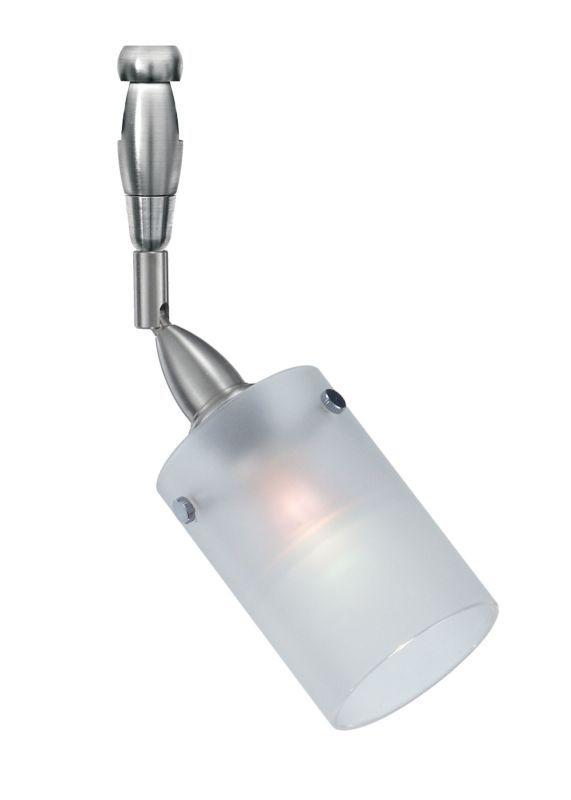 Lbl lighting merlino swivel ii led monorail 1 light track head satin nickel with 12