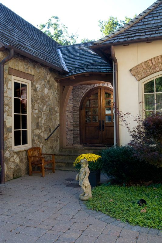 Beautiful Entry Way A Home By Architect Jack Arnold Love Jack Arnold Designs French Country House Plans French Country House Cottage House Plans
