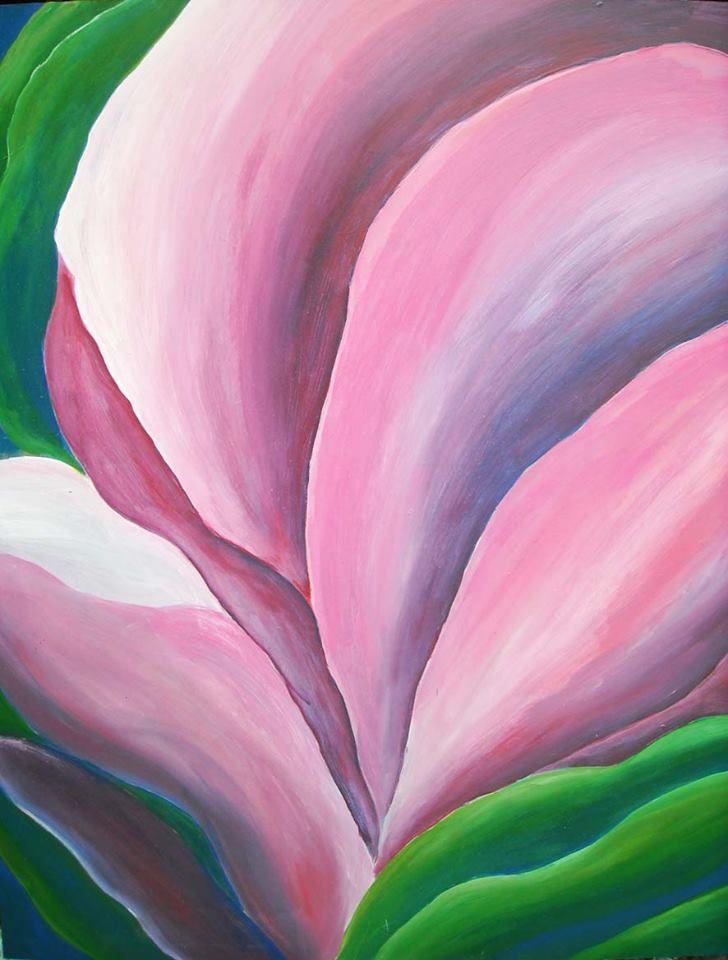 Flower, acrílico sobre madera