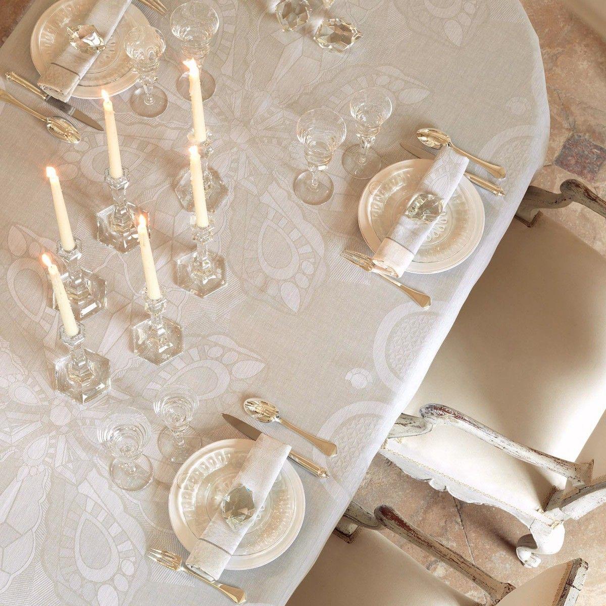 good le jacquard francais soldes 13 nappe diamant cristal 175x380 100 lin les soldes le. Black Bedroom Furniture Sets. Home Design Ideas