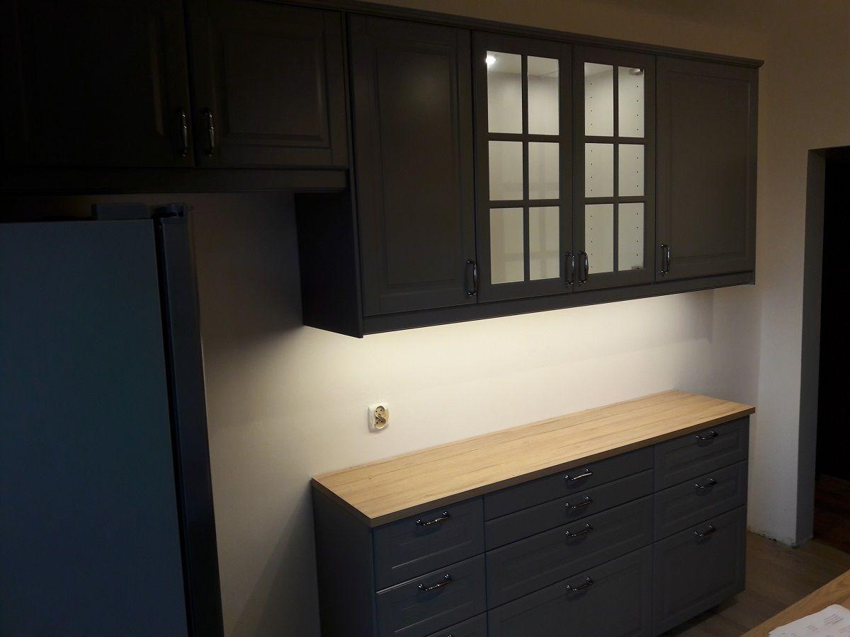 Kuchnia Ikea Metod Z Szarymi Frontami Bodbyn Kitchen Cabinets Ikea Furniture