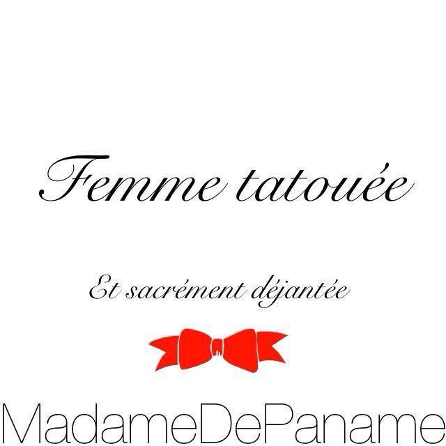#inkedgirl #madamedepaname