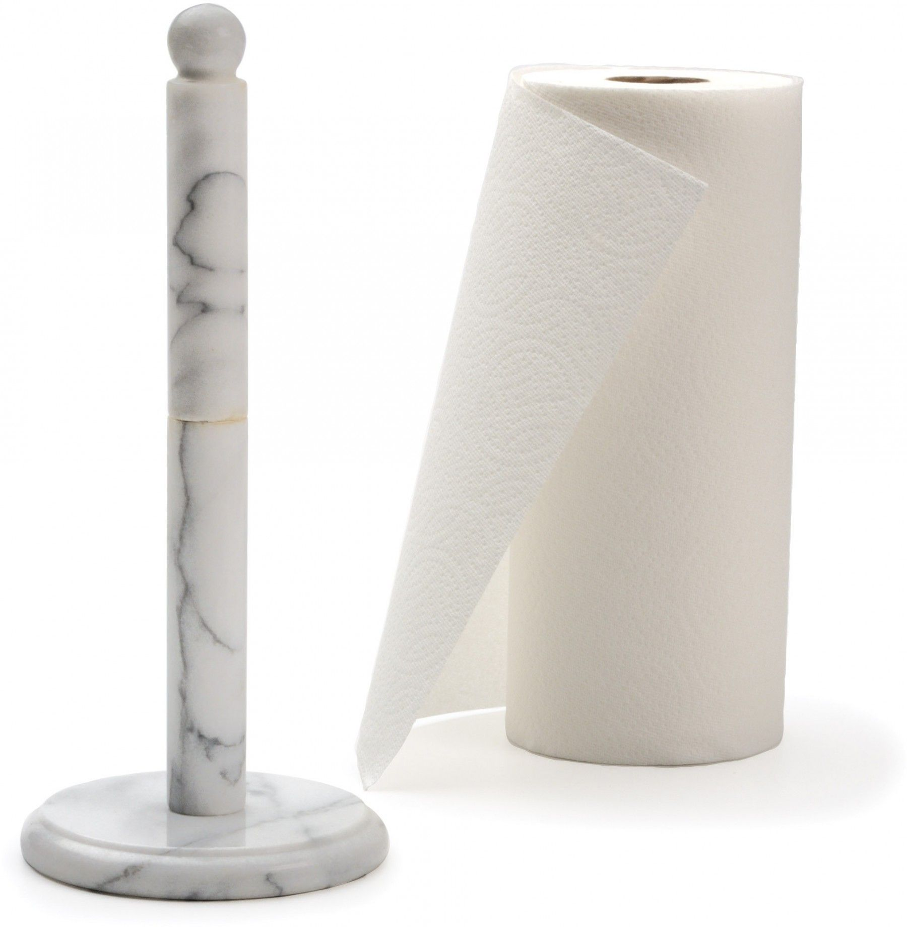 Rsvp White Marble Paper Towel Holder Paper Towel Holder Kitchen Towel Holder Paper Towel Holder