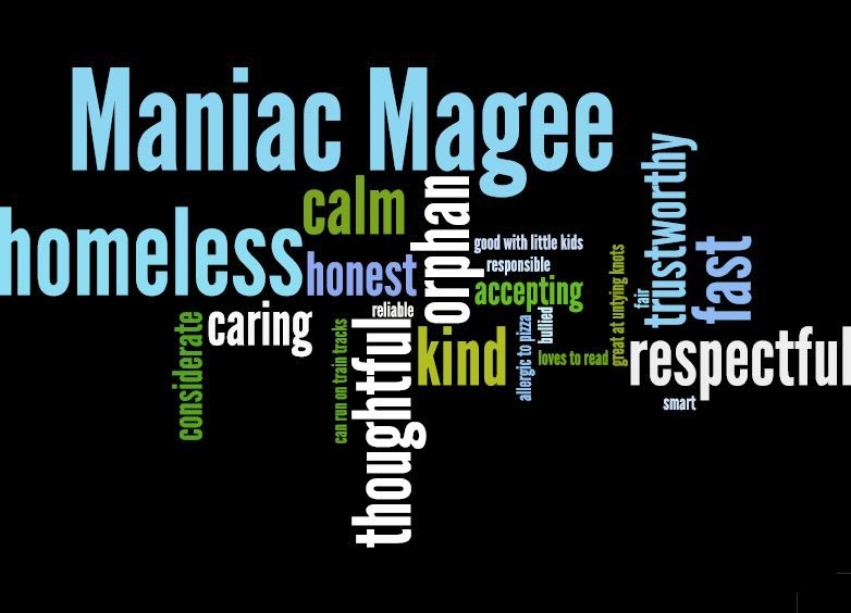 Maniac Magee Themes Wordle | Multi-Genre Author Project: Jerry ...
