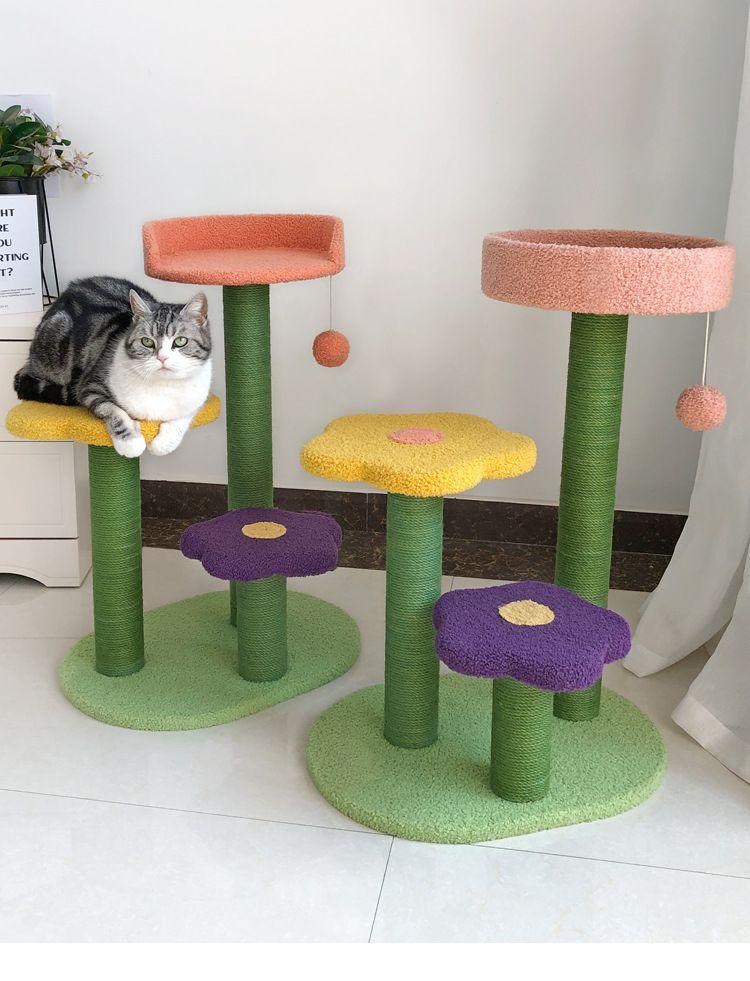 Cat Tree Multi Level Cat Condo In 2021 Cat Scratcher Cat Climbing Frame Cat Scratching