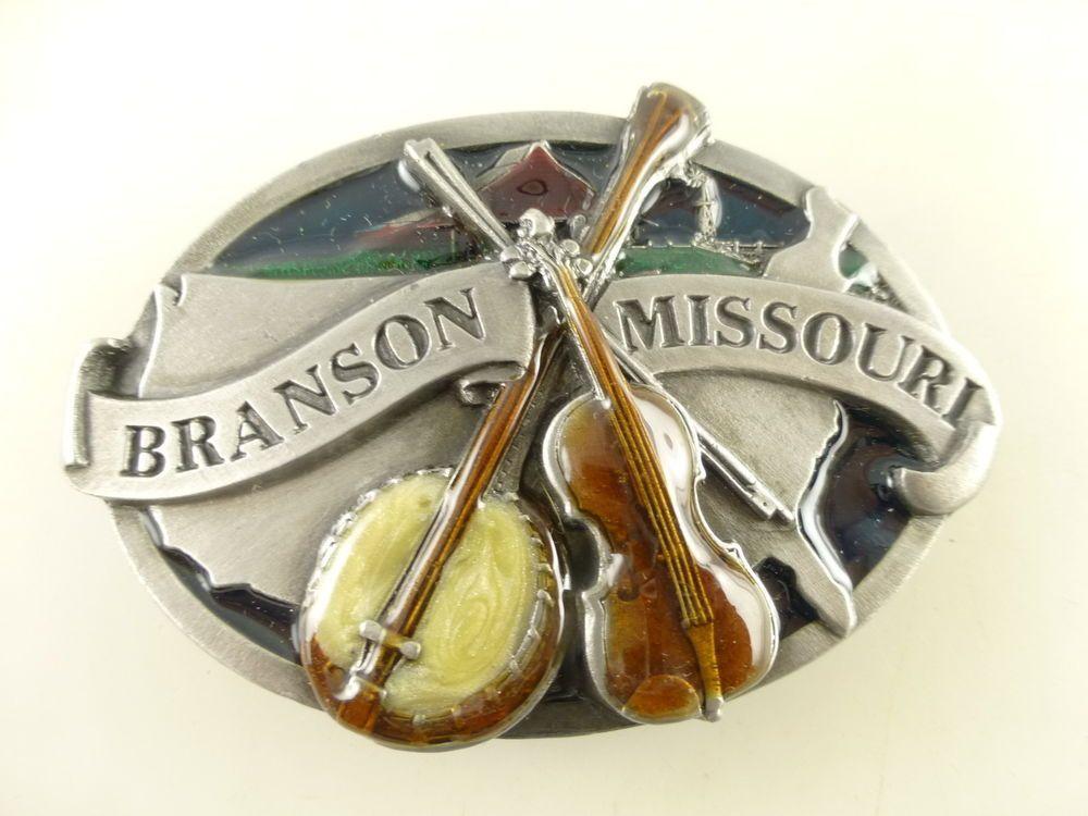 1992 Branson Missouri Dimensional Enamel Siskiyou Belt Buckle