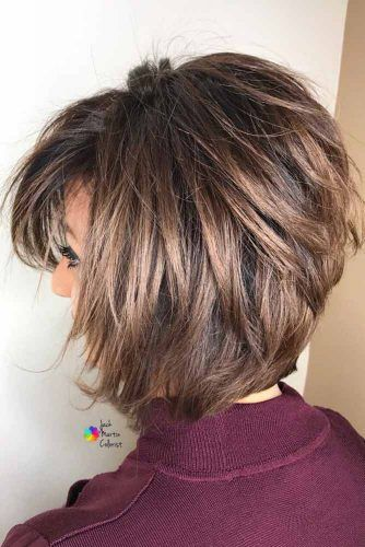 55 Stylish Layered Bob Hairstyles In 2020 With Images Short Hair With Layers Layered Haircuts For Women Short Layered Haircuts