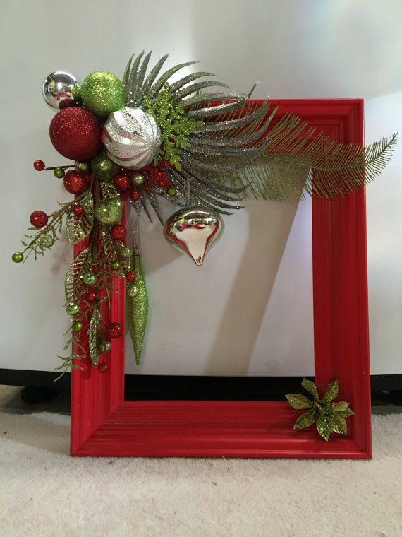 Hechos a mano 11 x 14 cuadro decoraci n de la por - Adornos navidenos a mano ...