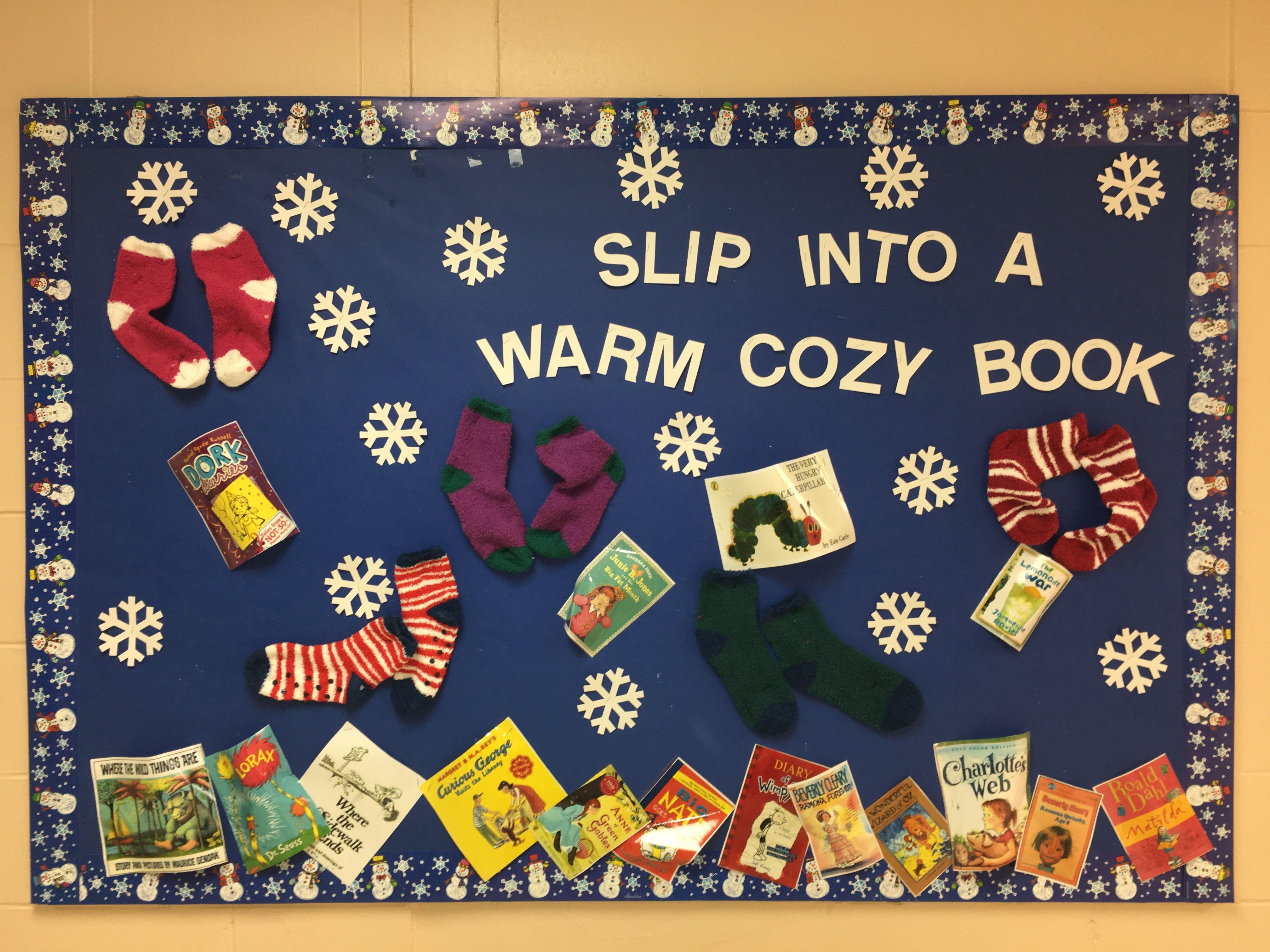 Winter Library Bulletin Board Book Displays Halloween Kindergarten Childrens