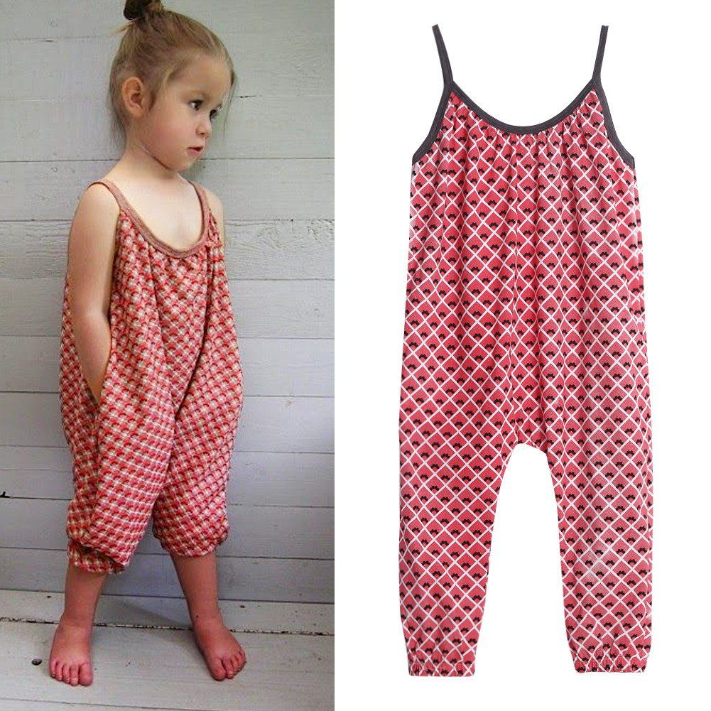 8c164792b555 Girls Overalls Jumpsuits. 9.92AUD - 3-8Y Kids Girls Summer Strappy Romper  Loose Jumpsuit Bodysuit Clothes Outfits