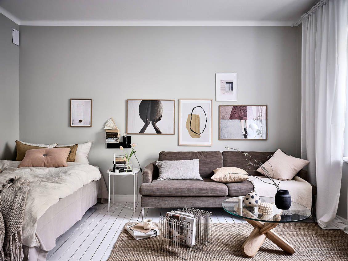 A Stylish Scandinavian Studio Apartment The Nordroom Small Studio Apartment Decorating Studio Apartment Decorating Apartment Decor
