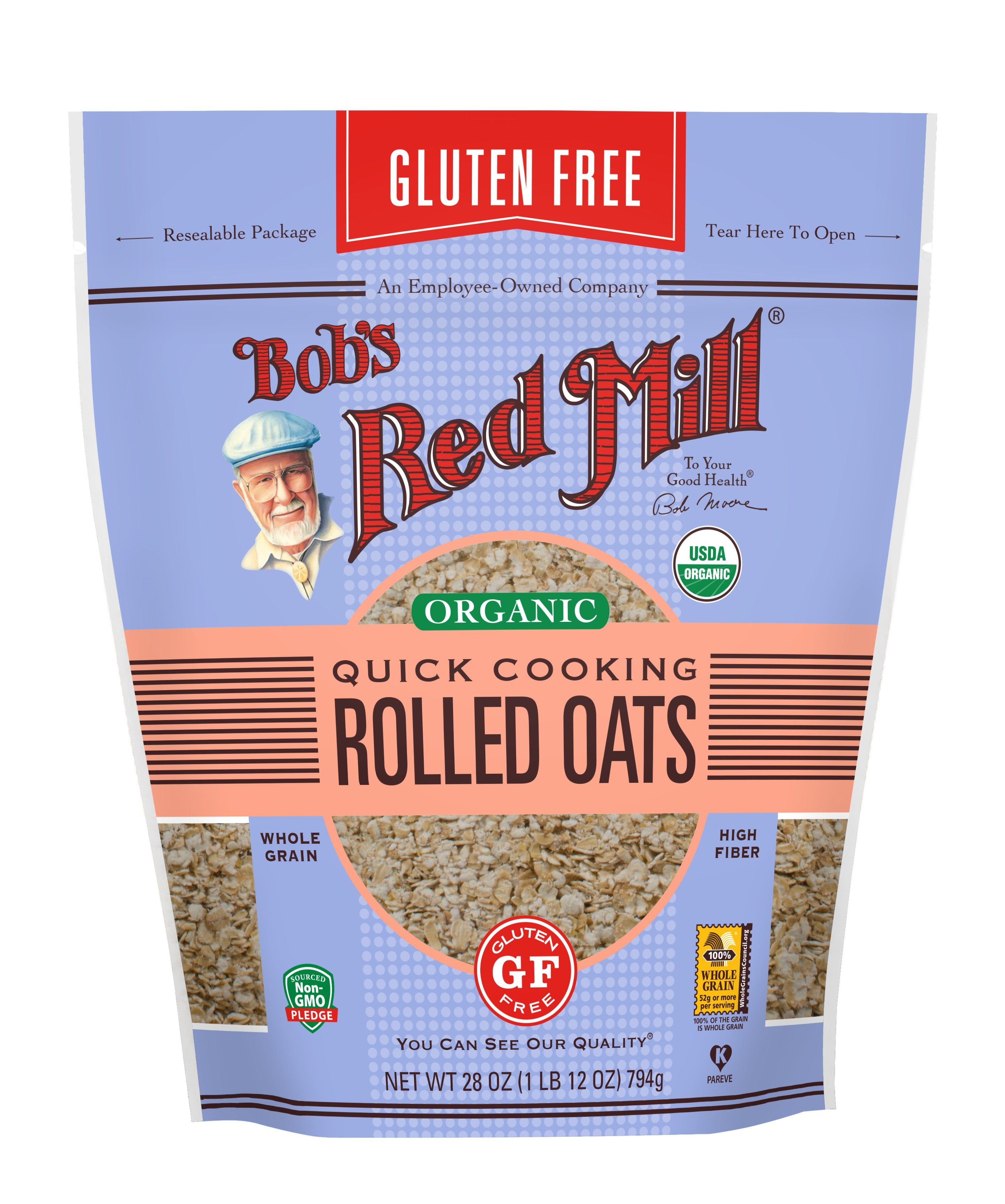 Gluten Free Organic Quick Cooking Rolled Oats Cooking Rolled Oats Bobs Red Mill Gluten Free Oats