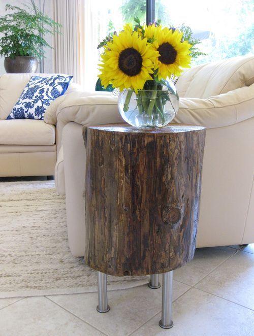 tronco árvore mesa lateral