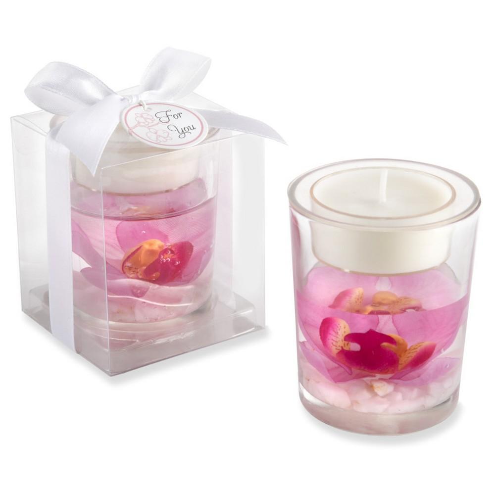 Elegant Orchid Tealight Holder (Set of 12), Pink   Products