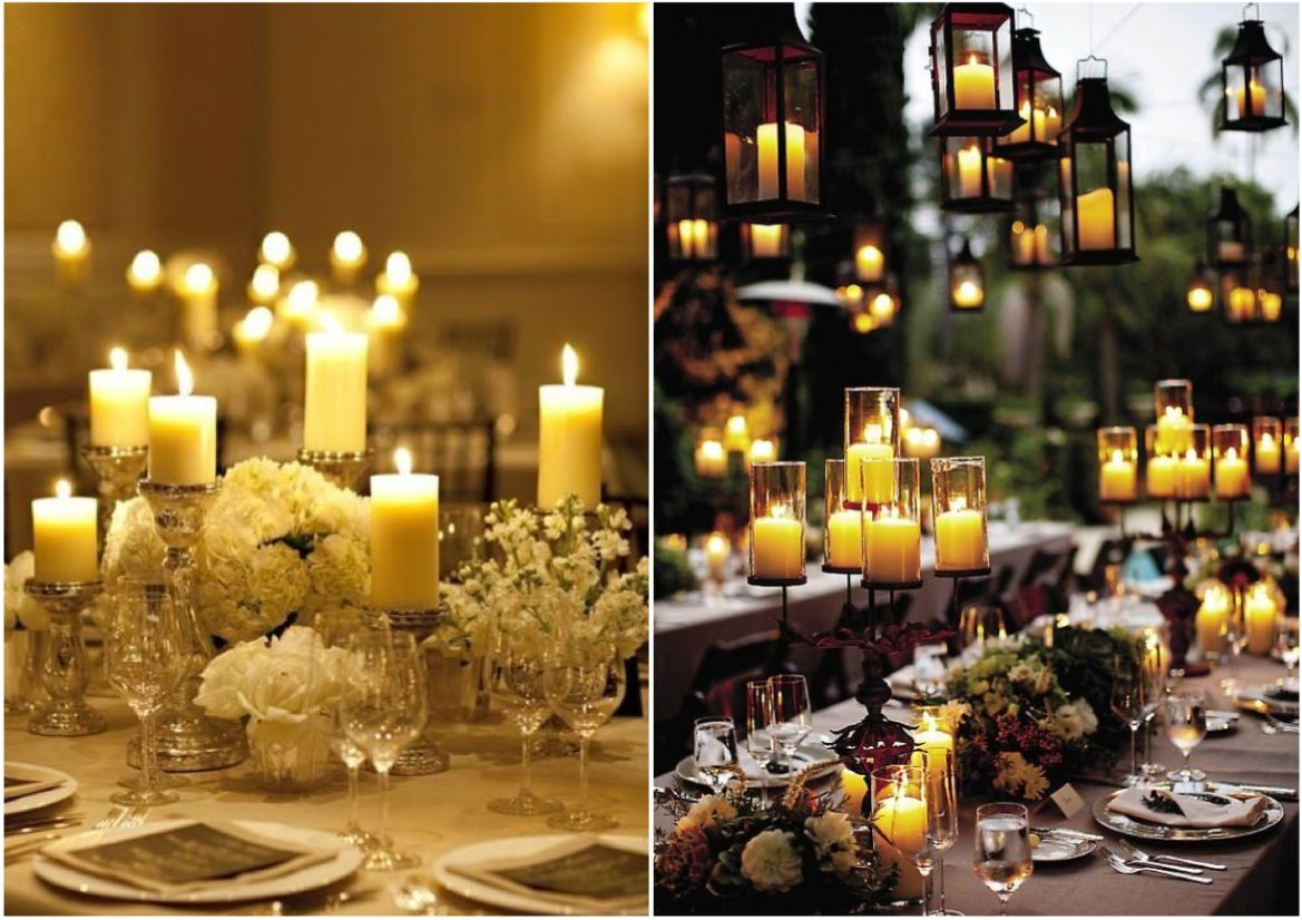 Candle Wedding Centerpieces Google Search